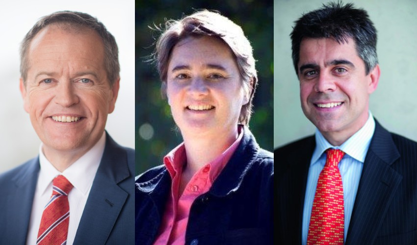 Bill Shorten, Meg Heffron, Peter Burgess