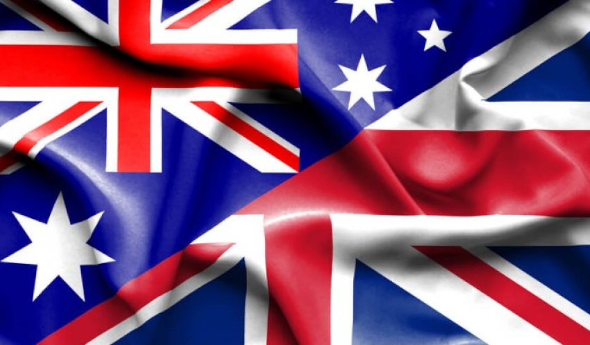 UK and Australian flags