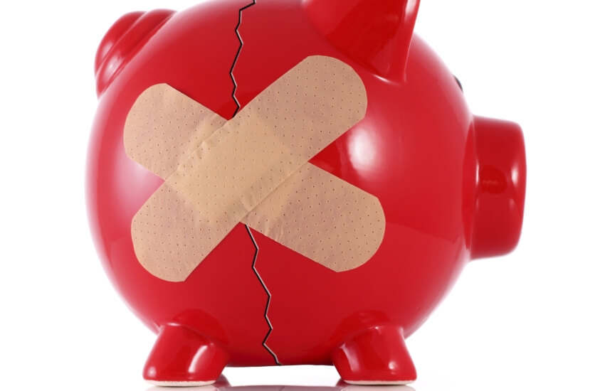 damaged piggy bank smsf