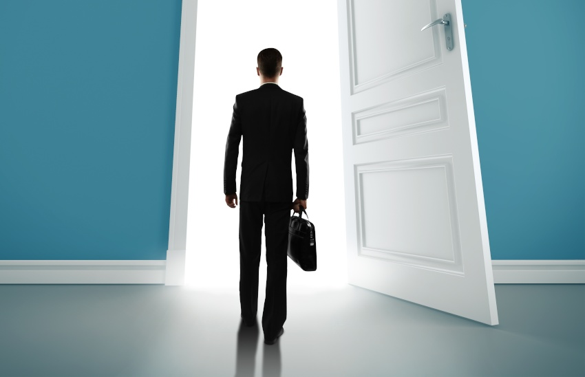 Resignation, leaving the door