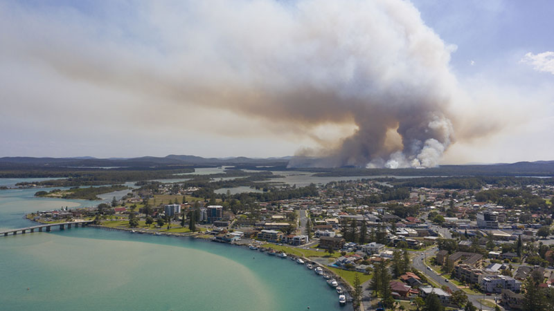 fire aerial suburbs smsf