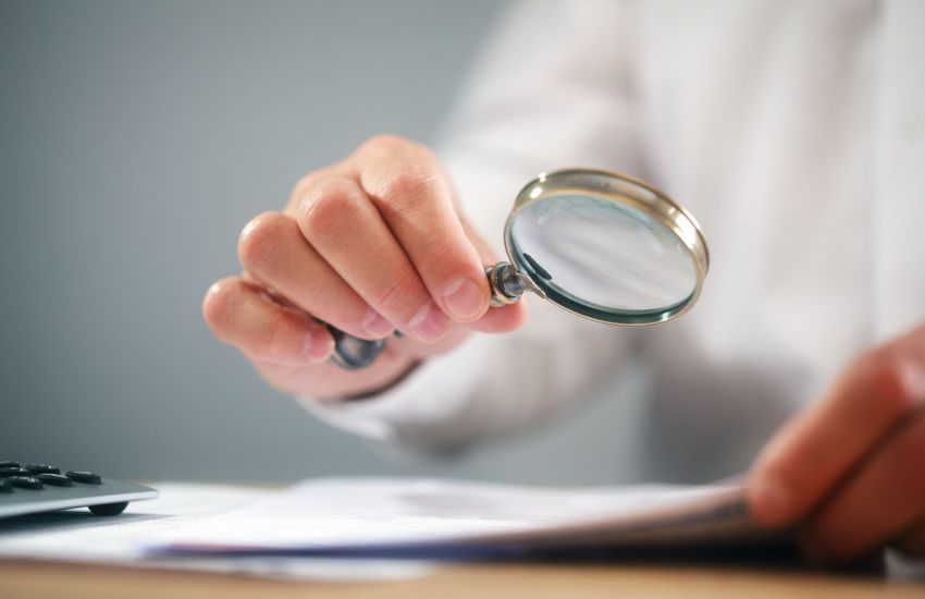 Review, magnifying glass