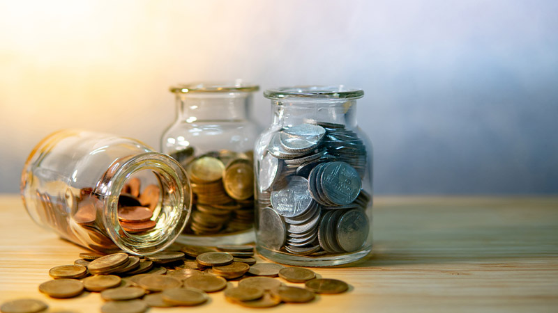 money coins jar smsf