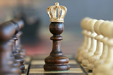 Chess piece with a crown, new role