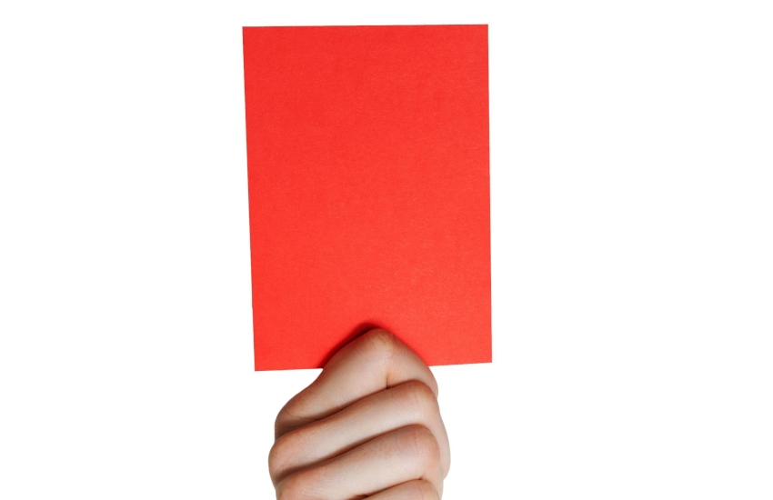 red card 850