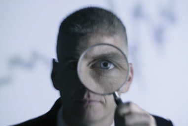 looking through the magnifying glass