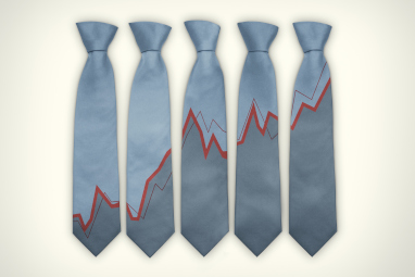 Necktie with line graph
